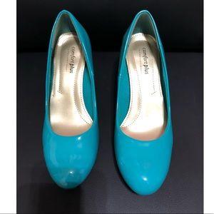 Turquoise blue comfort plus heels